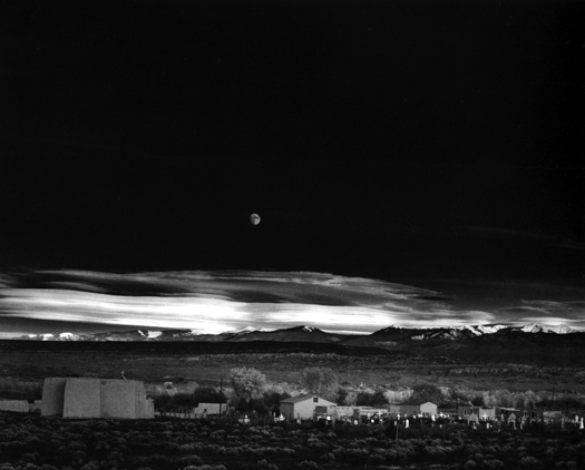 Ansel Adams Moonrise, Hernandez, New Mexico, 1941 15 x 19.5 inches silver print