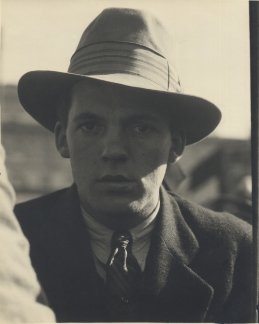 Dorothea Lange Portrait of a Man at General Strike, San Francisco, 1934 9.25 x 7.25 inches vintage silver print