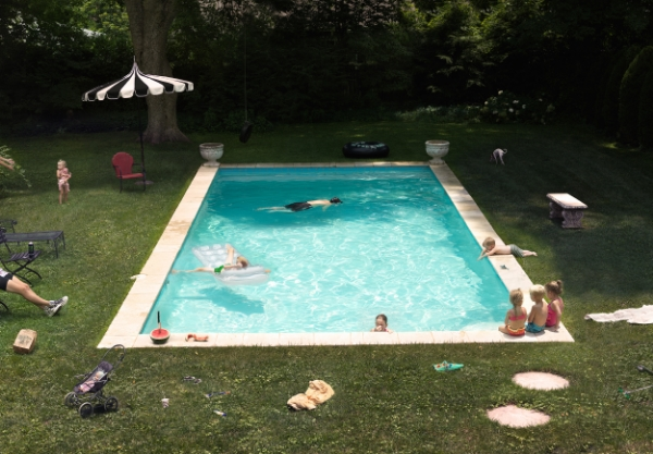 Julie Blackmon Pool, 2015 26 x 35.5 inches (edition of 10) 35.75 x 49.5 inches (edition of 7) 44 x 61.5 inches (edition of 5) archival pigment print