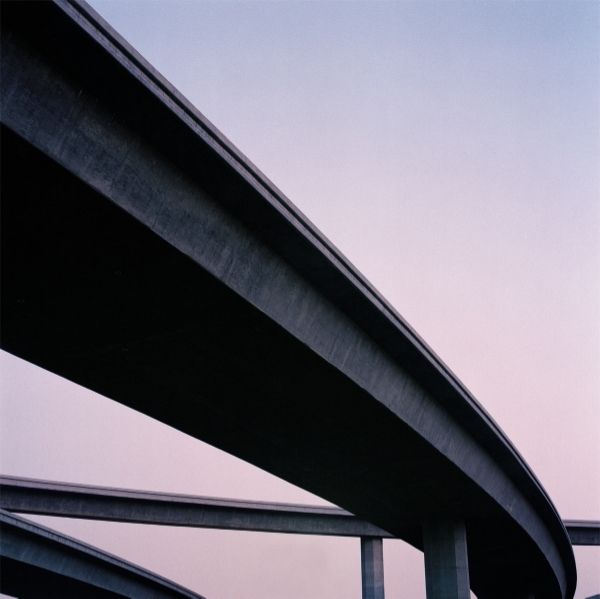 Jeff Brouws 405 Freeway, Sylmar, California, 1995 24 x 20 inches (edition of 20) 38 x 38 inches (edition of 10) archival pigment print