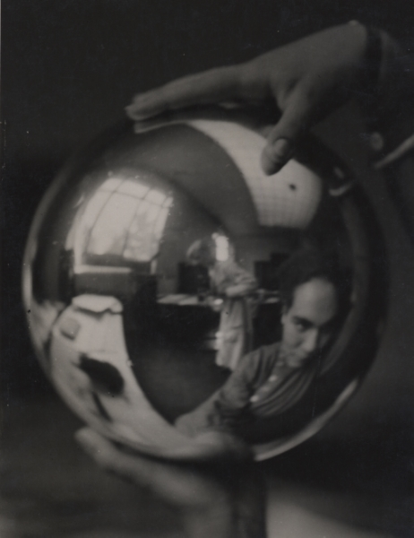 Elisabeth Hase Self-reflection in a Ball c. 1927 9.25 x 7 inches vintage silver print