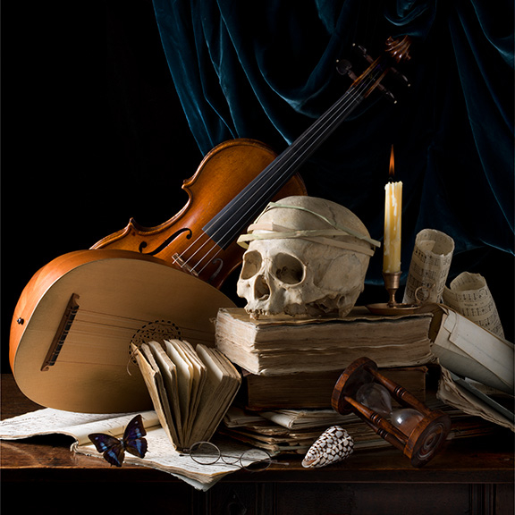 Vanitas II (Rhapsody) after P.C., 2015 16 x 16 inches (edition of 15) 24 x 24 inches (edition of 7) 36 x 36 inches (edition of 5)  archival pigment print