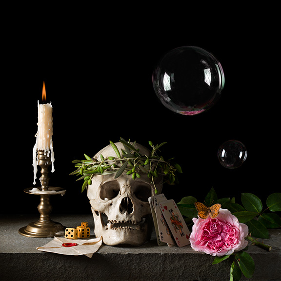 Vanitas III (The Letter), after P.C., 2015 16 x 16 inches (edition of 15) 24 x 24 inches (edition of 7) 36 x 36 inches (edition of 5) archival pigment print