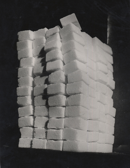 Untitled (tower of sugar cubes), 1949 9.25 x 7 inches vintage silver print