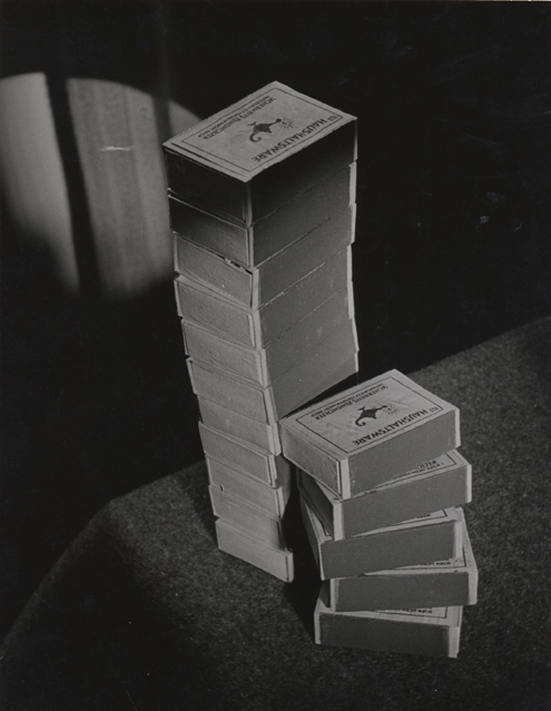 Kleinen stapel (small stack), 1949 9.5 x 7 inches vintage silver print