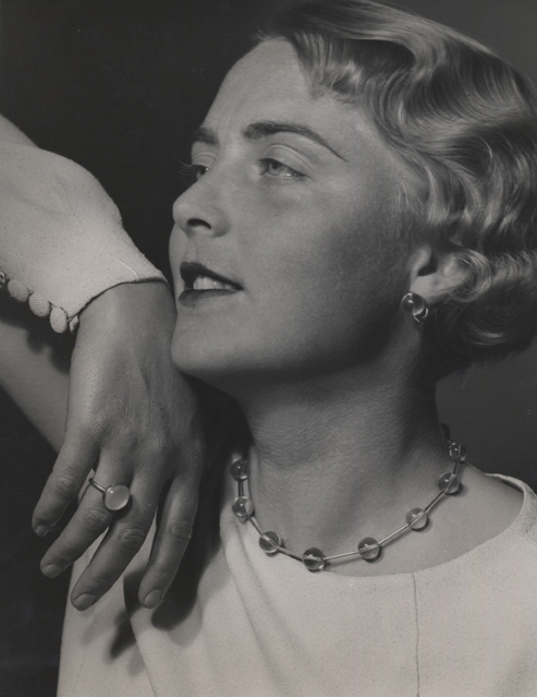 Untitled (woman with necklace), 1935-36 9 x 7 inches vintage silver print
