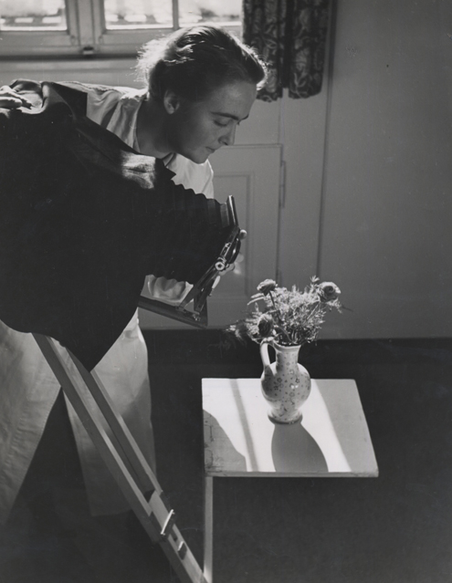 Untitled (woman with camera), 1940 9 x 7 inches vintage silver print