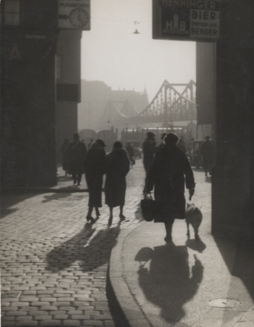 Eiserner Steg (Iron bridge), 1929 9.25 x 7 inches vintage silver print