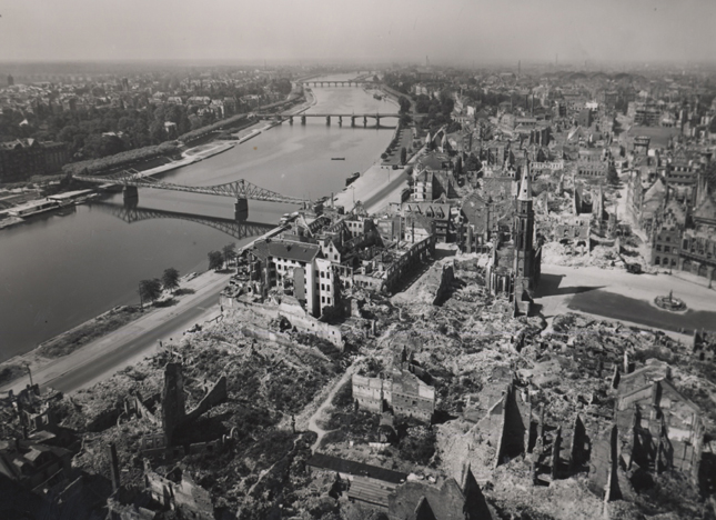 Untitled (view from above), 1947 7 x 9 inches vintage silver print