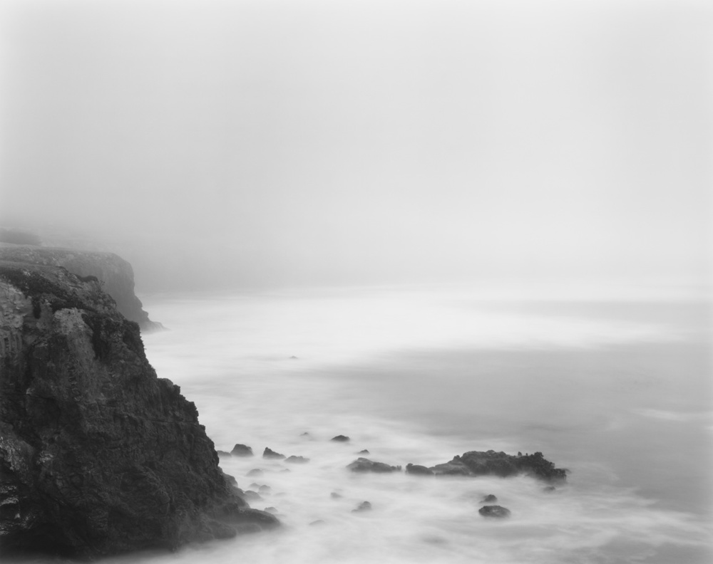 Cliffs, Pacific Ocean, 2012 20 x 24 inches (edition of 25) 26 x 32 inches (edition of 10) 44.25 x 56 inches (edition of 5) silver print