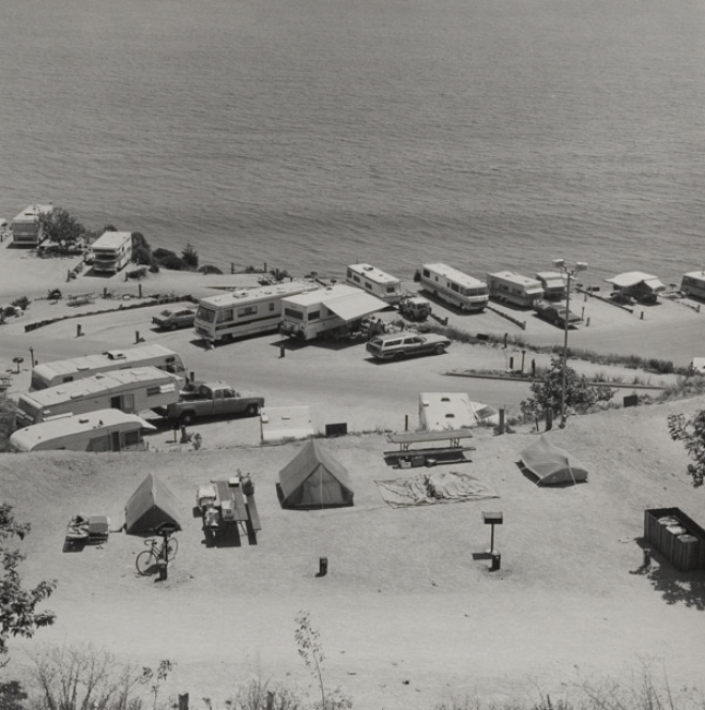 Joe Deal Malibu Beach, California from the series: Beach Cities, 1978 17.75 x 17.75 inches vintage silver print