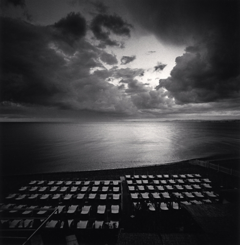 Michael Kenna Spectacle, Castel Plage, Nice, 1996 7.75 x 7.75 inches toned silver print