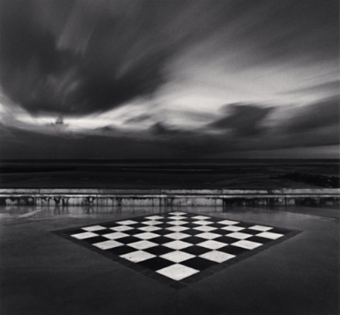 Michael Kenna Chess Board, Wimereux, 2000 7.75 x 7.75 inches toned silver print