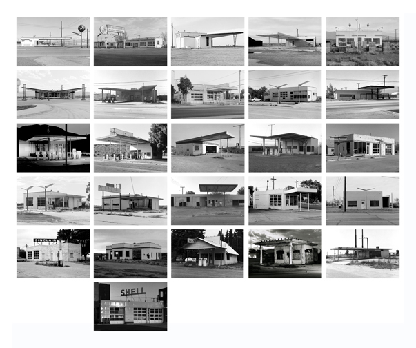Twenty-Six Abandoned Gasoline Stations Portfolio II, 1991-1996 11 x 14 inches (edition of 20) archival pigment print