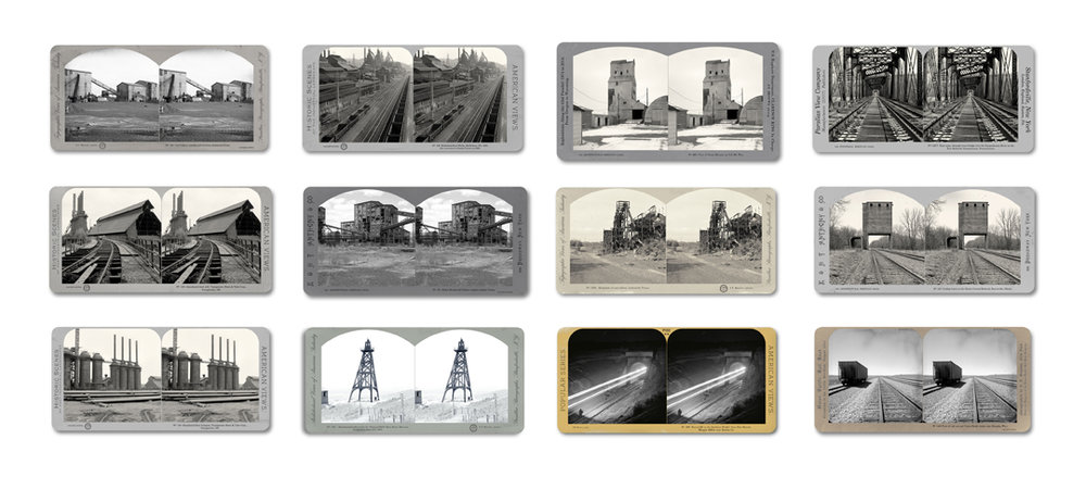 The American Industrial Heritage Series Portfolio, 2015 8 x 12 inches each (edition of 9) archival pigment print