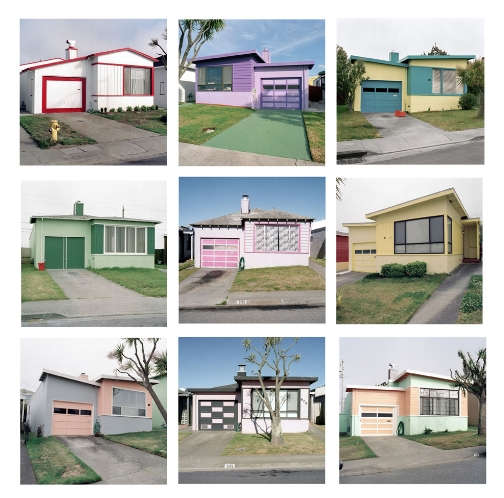 A selection from the series, Freshly Painted Tract Houses, 1991 18 x 18 inches each (edition of 20)    archival pigment print