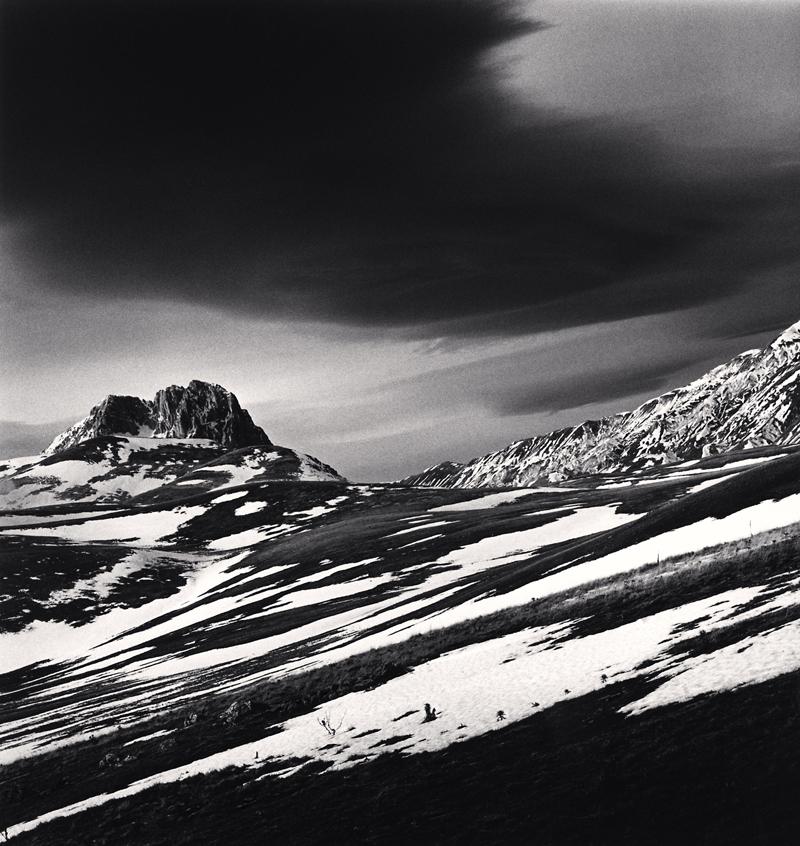 Black Cloud and Corno Grande, Campo Imperatore, Abruzzo, Italy, 2016 8.25 x 7.75 inches (edition of 25) toned silver print