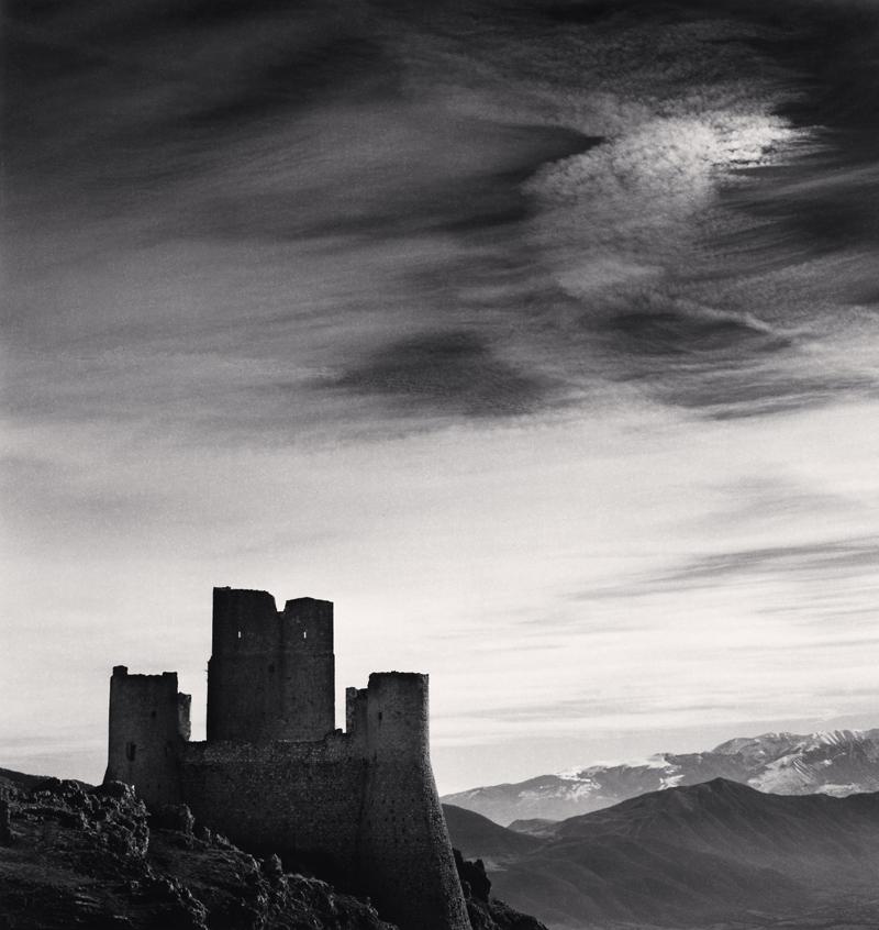 Castle and Sky, Rocca Calascio, Abruzzo, Itlay, 2016 8.25 x 7.75 inches (edition of 25) toned silver print
