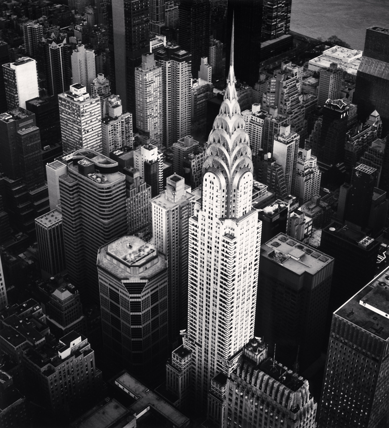 Chrysler Building, Study 4, New York, New York, 2010 8.5 x 7.75 inches (edition of 25) toned silver print