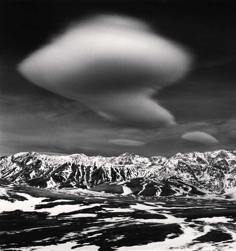 Curious Cloud, Campo Imperatore, Abruzzo, Italy, 2016 8.25 x 7.75 inches (edition of 25) toned silver print