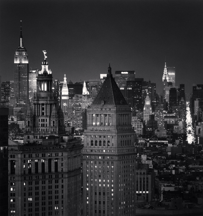 Manhattan Municipal Building, New York, New York, 2010 8.1875 x 7.75 inches (edition of 25) toned silver print