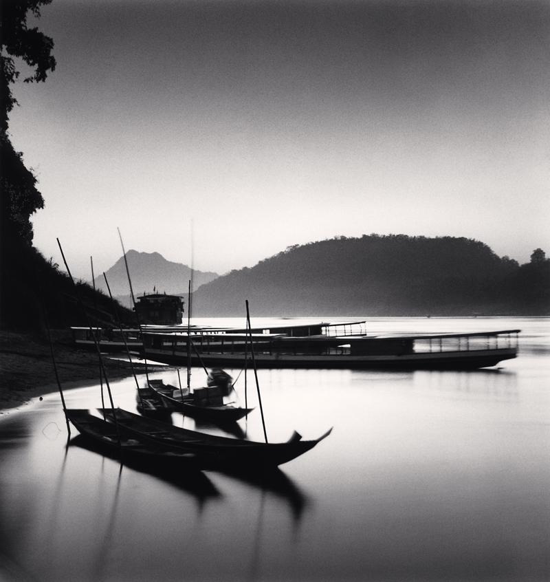 Mekong River Sunset, Luang Prabang, Laos, 2015 8.125 x 7.75 inches (edition of 25) toned silver print