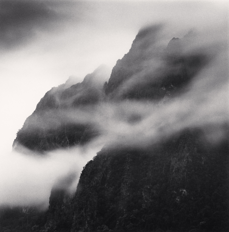 Morning Rain Clouds, Phou Chaleng Mountain, Muang Ngoi, Laos, 2015 7.875 x 7.75 inches (edition of 25) toned silver print