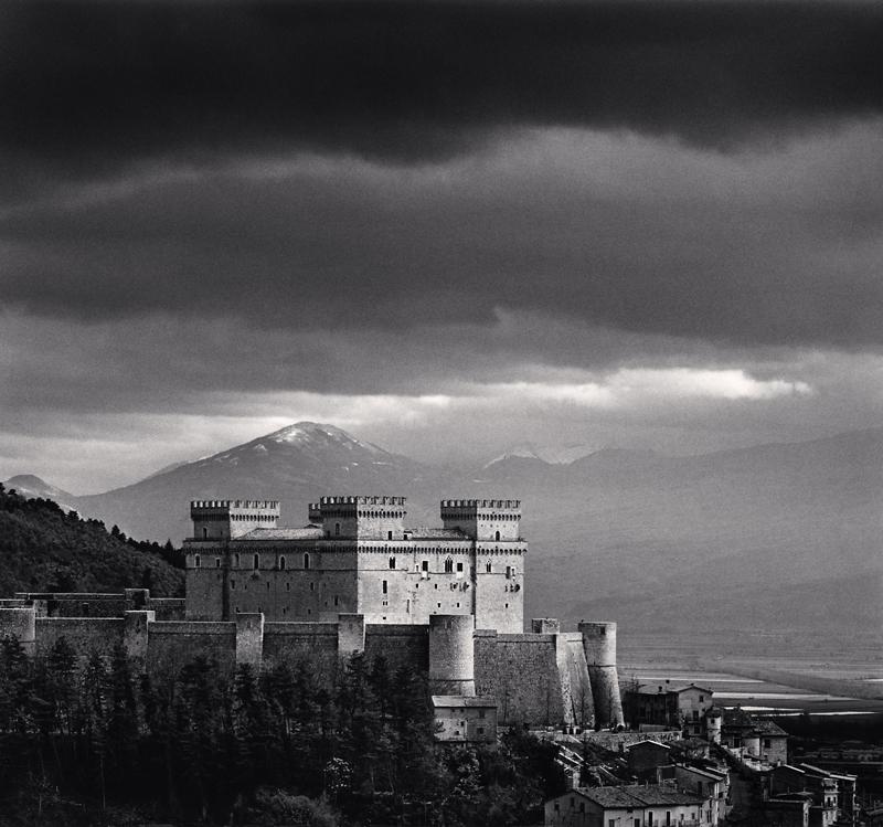 Piccolomini Castle, Celano, Abruzzo, Italy, 2016 7.625 x 8.25 inches (edition of 25) toned silver print