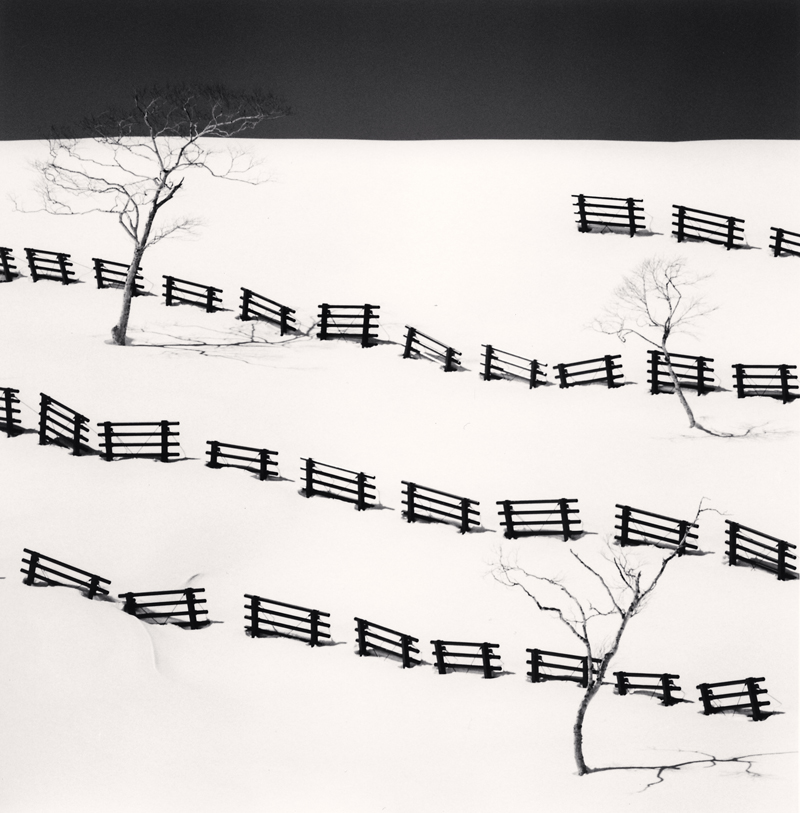 Thirty One Snow Fences, Bihoro, Hokkaido, Japan, 2016 8 x 7.75 inches (edition of 25) toned silver print
