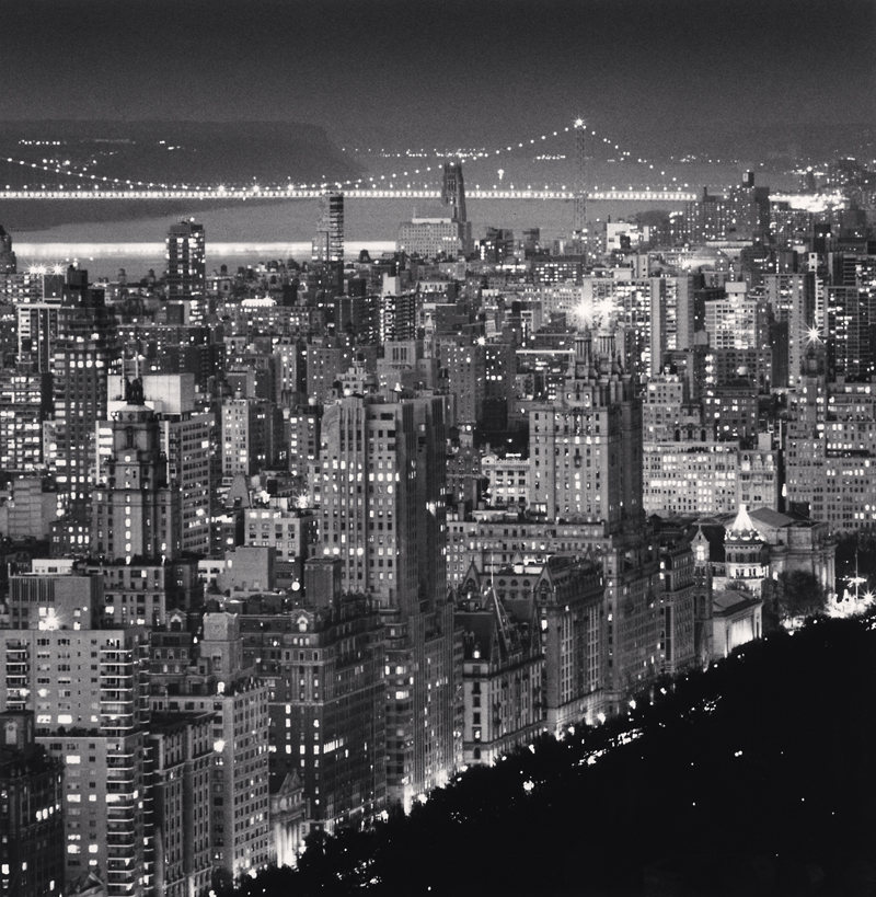 Upper Manhattan and George Washington Bridge, New York, New York, 2010 8 x 7.75 inches (edition of 25) toned silver print
