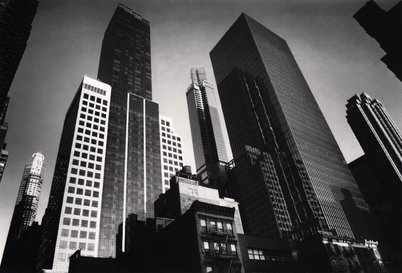 Manhattan Skyline, Study 3, New York, NY, 2013 6.5 x 9.5 inches (edition of 25) toned silver print
