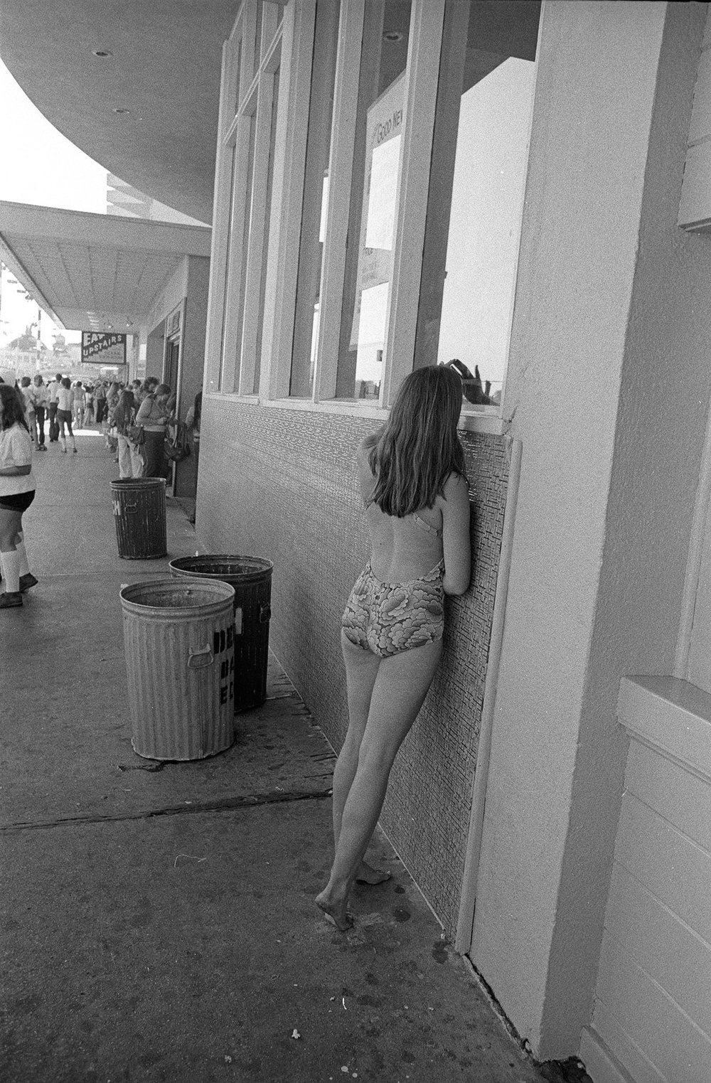 Mike Mandel    The Boardwalk Series , 1974  Vintage silver print  10 x 8 inches