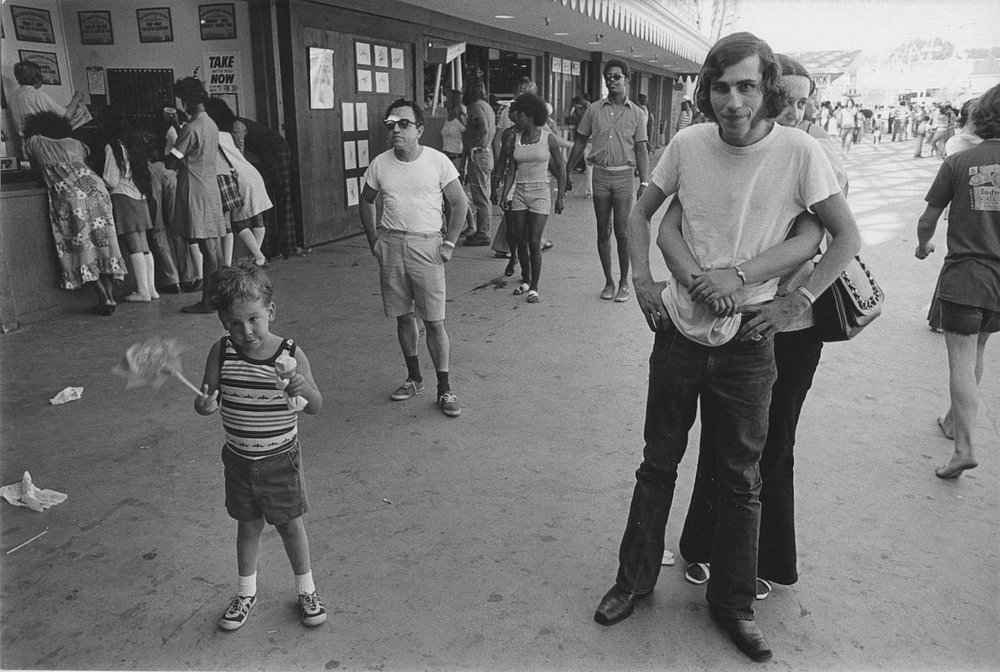 Mike Mandel    The Boardwalk Series , 1974  Vintage silver print  8 x 10 inches