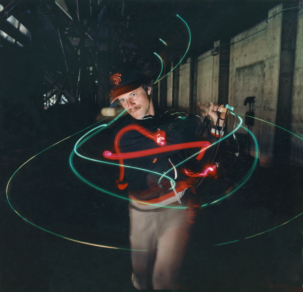 Mike Mandel    Giants, Time/Motion , 1978  Archival pigment print  20 x 20 inches  Edition of 6
