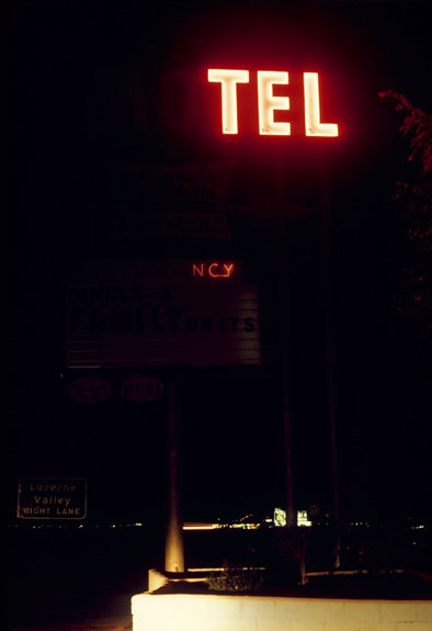 Mike Mandel    Motels , 1974  Archival pigment print  16 x 24 inches  Edition of 6