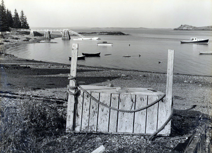 Great Spruce Head Island, Maine , 1940  vintage silver print mounted to board  7 x 9.75 inches