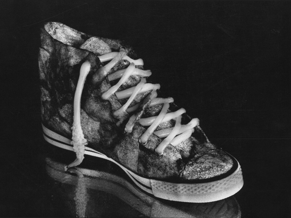 Cuttlefish and Sneaker , 1989  silver print  20 x 24 inches