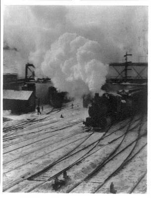 In New York Central Yards , 1903  photogravure  8 x 6.25 inches