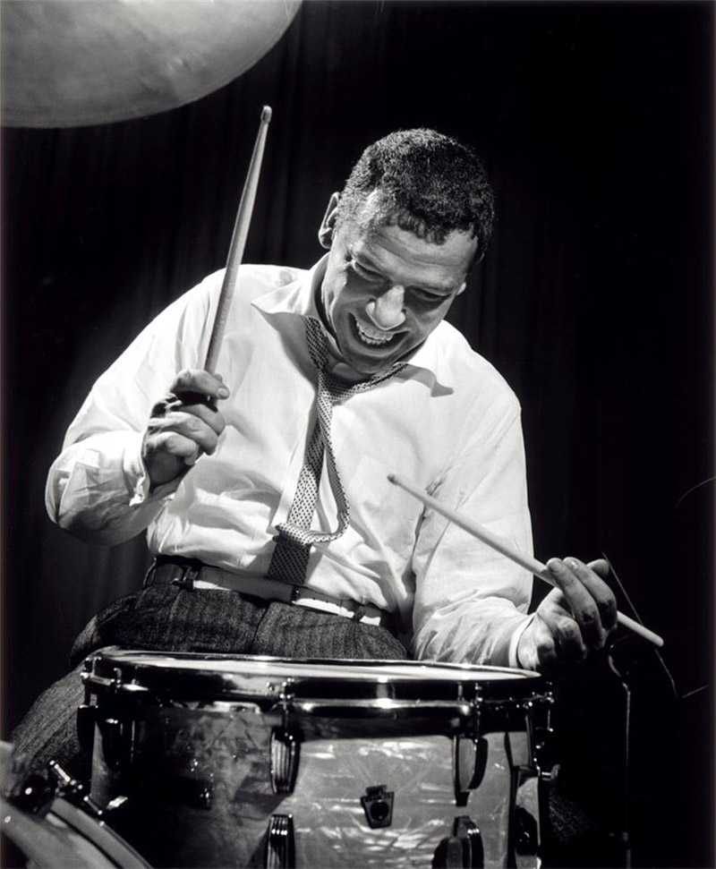 Buddy Rich, NYC , 1955  Silver print  20 x 16 inches  Edition of 50