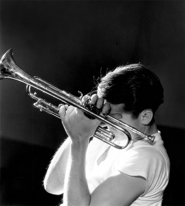 Chet Baker, NYC , 1956  Silver print  20 x 16 inches  Edition of 50