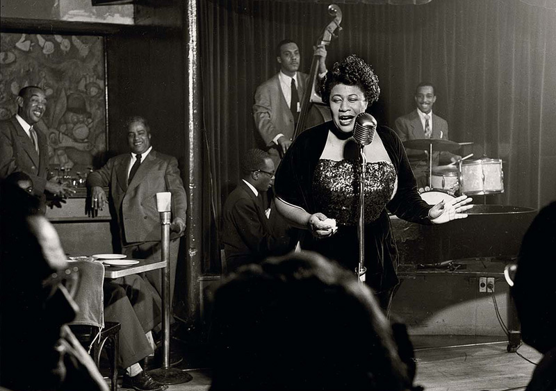 Ella Fitzgerald, NYC , 1949  Silver print  16 x 20 inches  Edition of 50