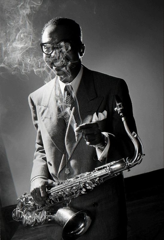James Moody, NYC , 1951  Silver print  20 x 16 inches  Edition of 30
