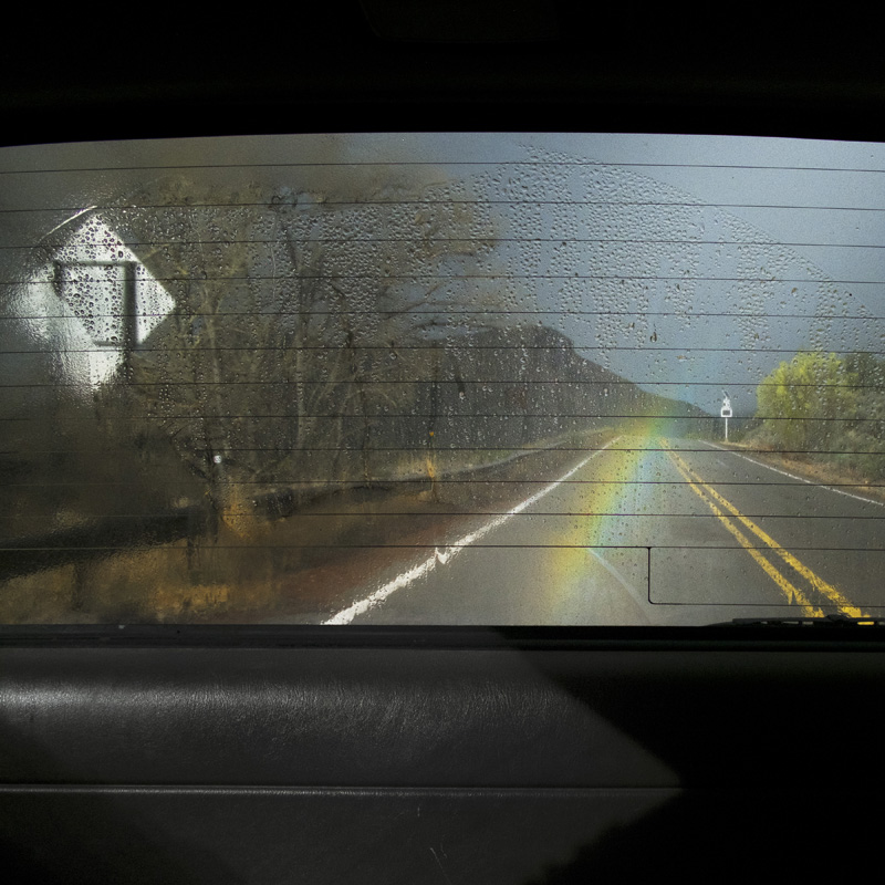 Small Rainbow, Santa Fe, New Mexico , 2016 14 x 14 inches (edition of 10)  28 x 28 inches (edition of 7)  40 x 40 inches (edition of 5) Chromogenic dye coupler print