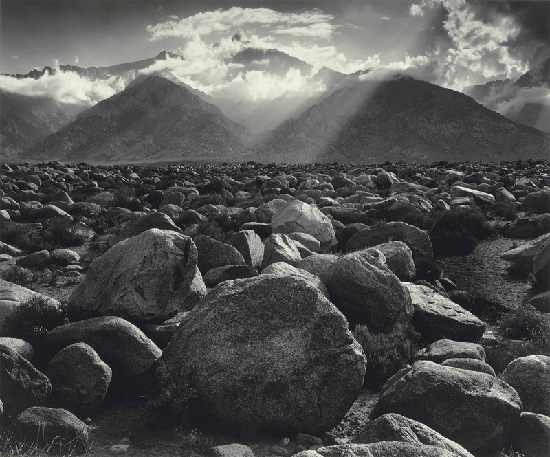 Mt. Williamson, The Sierra Nevada, from Manzanar, California , 1944