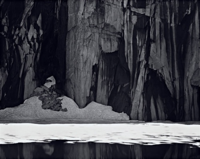 Frozen Lake and Cliffs, Kaweah Gap, Sequoia National Park, CA , 1932