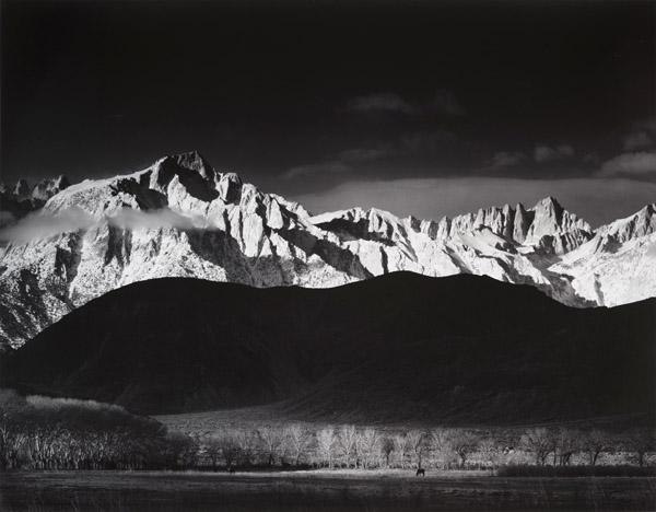 Winter Sunrise, Sierra Nevada from Lone Pine, CA , 1944