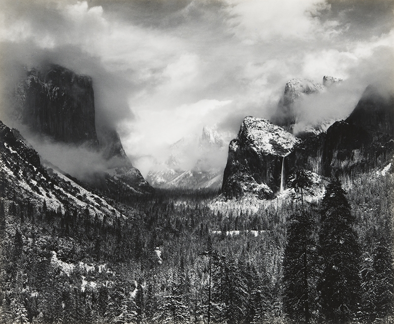 Clearing Winter Storm, Yosemite, CA , 1944
