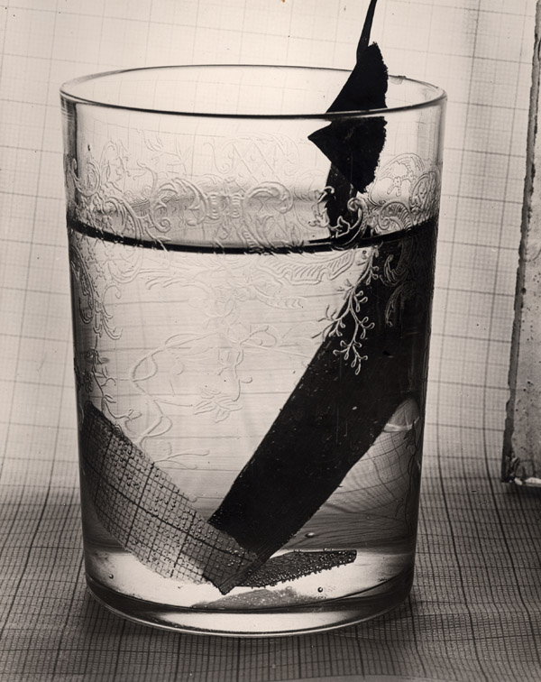 Glass and Paper , 1931 Early silver print 10 x 8 inches