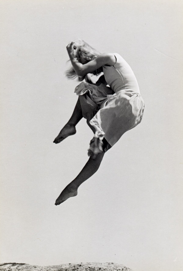 High Jump (Renate Schottelius) , 1946  Silver print  14 x 11 inches