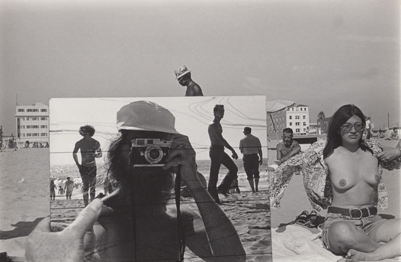 Untitled (Self portrait in mirror), Venice Beach, CA , 1976  Vintage silver print  8 x 10 inches